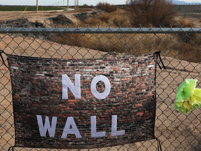 Most Americans do not support the President's plan for a $US5.7 billion wall on the US-Mexico border. Picture: Joe Raedle/Getty Images/AFP