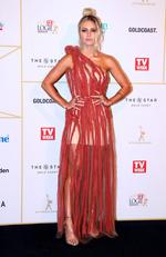 Elyse Knowles arrives at the 60th Annual Logie Awards at The Star Gold Coast on July 1, 2018 in Gold Coast, Australia. Picture: Chris Hyde/Getty Images