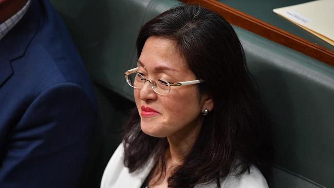 Gladys Liu has previously rubbished questions about her loyalty to Australia. Picture: AAP