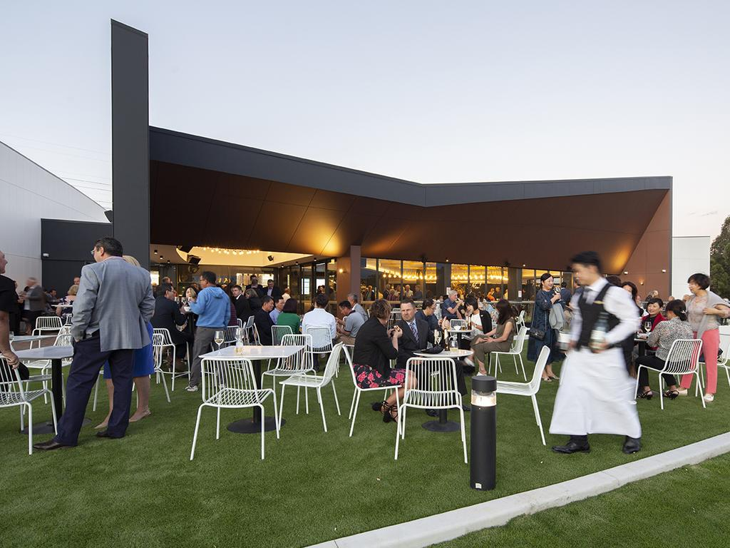 Outdoor social space at Strathfield Golf Club.