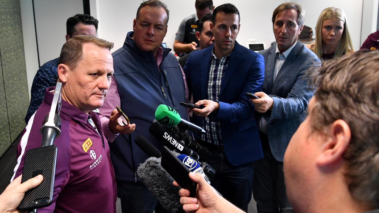 Queensland coach Kevin Walters leaves a cryptic clue for the media.