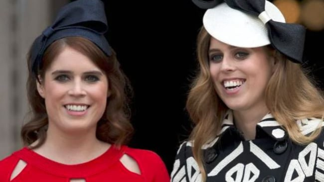Princess Eugenie, who tied the knot recently, and Princess Beatrice. Picture: AFPSource:AFP