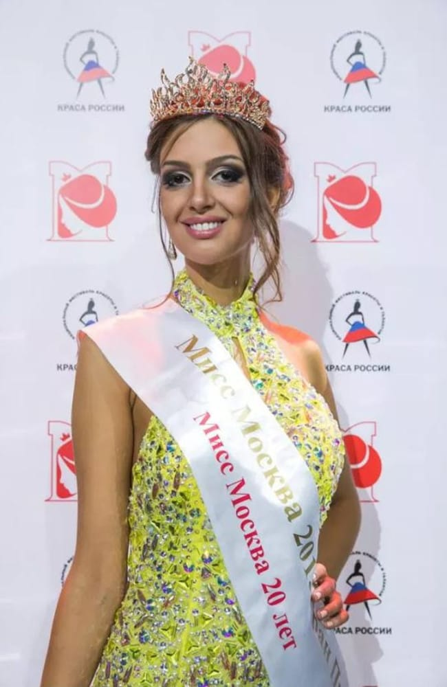 Oksana Voevodina won Miss Moscow 2015. It's not known how she met King Sultan Muhammad V. Picture: East2West News