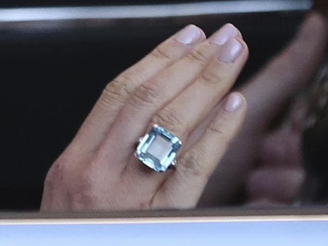 Meghan Markle wore one of Princess Diana's rings in a showstopping tribute. Picture: AFP