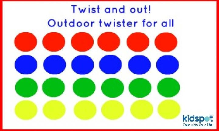 picture about Twister Spinner Printable known as Twist and out! Outside Twister for all - Kidspot