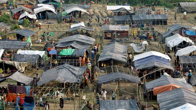 More than 120,000 people have fled for camps like this in the past two weeks. Picture: K.M. Asad