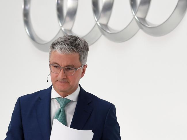 CEO of the German carmaker Audi AG, a Volkswagen subsidiary, had his house raided over suspicion of fraud related to diesel emissions. Picture: AFP Photo