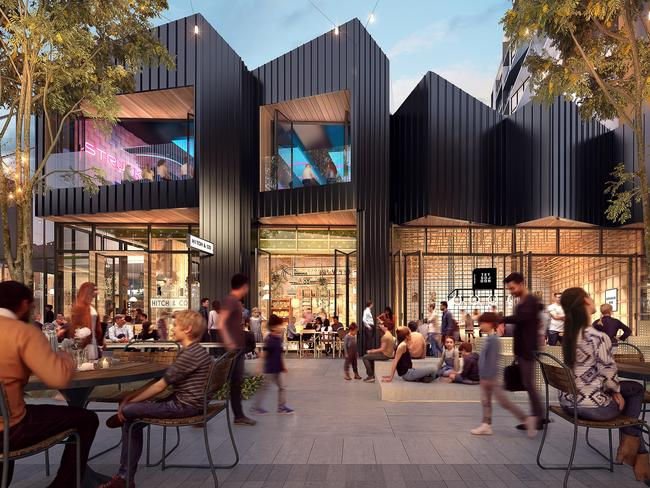 Cafes, restaurants, retail and a cinema will be right on residents' doorstep.
