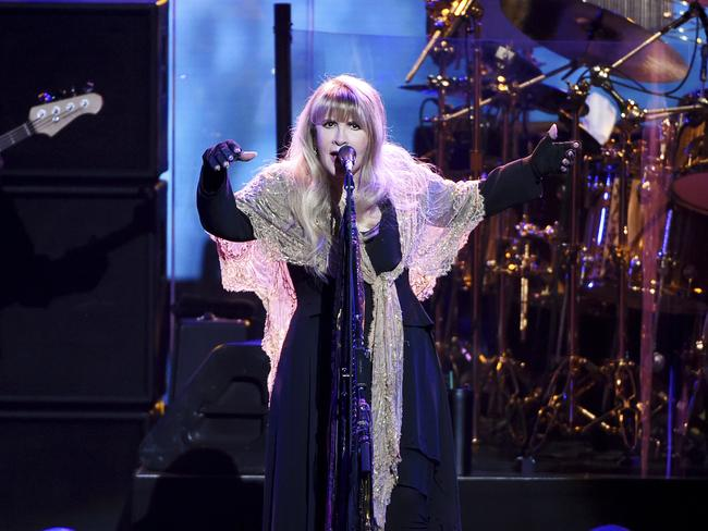 Neil Finn is joining Fleetwood Mac, whose members include Stevie Nicks. Picture: AP