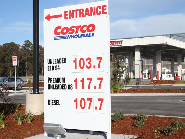 Gas price at costco