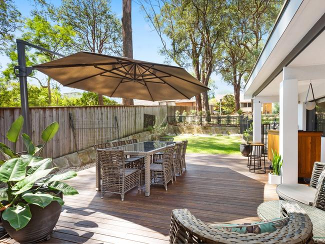 There is plenty of outdoor spaces, including a large outdoor space and swimming pool.
