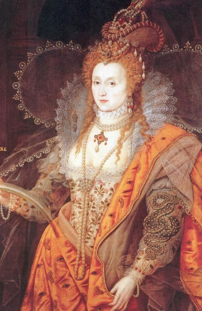 The Rainbow Portrait of Queen Elizabeth I by Isaac Oliver. Picture: Alamy