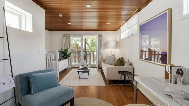 Inside the double-storey home at 2C Harris St.