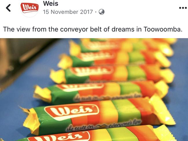 At one point Unilever was excited about its Weis purchase and the Toowoomba factory.