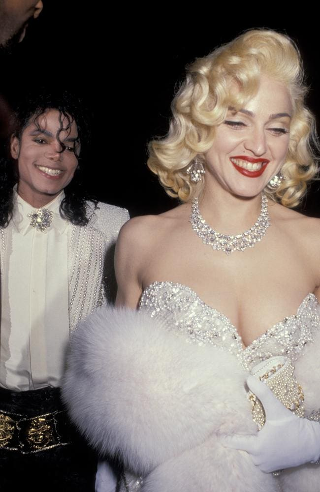 Michael Jackson and Madonna at the 1991 Oscars. Picture: Ron Galella/WireImage