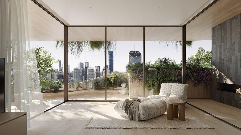 Inside the planned Urban Forest apartment building. Supplied: Aria