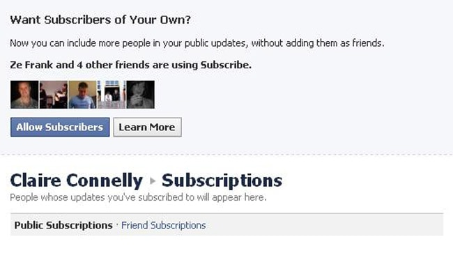 Facebook subscribe: As you can tell, Claire Connelly is a very popular person. Picture: Facebook