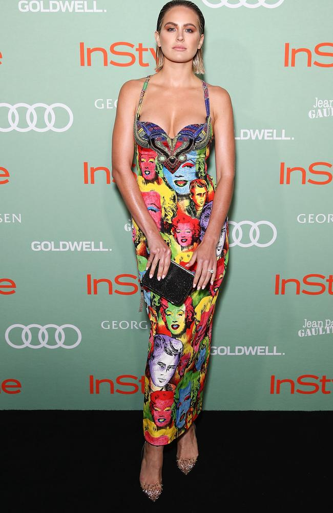 Jesinta Franklin channel Marlin Monroe at the Women of Style Awards in Sydney. Picture: Brendon Thorne/Getty Images