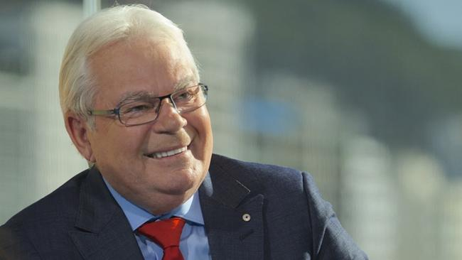Iconic SBS football presenter Les Murray at the World Cup in 2014.