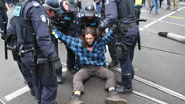Police arrested more than 70 people during the Extinction Rebellion protests.