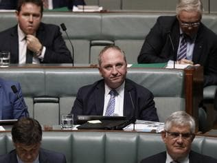 20180529: News Corp: Canberra: NEWS: Parliament House Question Time. Nationals Member for New England Barnaby Joyce during Question Time in The House of Representatives at Parliament House in Canberra. Picture: Sean Davey/ News Corp Australia