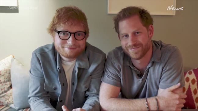 Prince Harry and Ed Sheeran team up in hilarious video for World Mental Health Day
