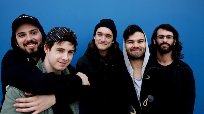 Chart toppers ... Northlane debuted at No. 1 with their latest album Node a few weeks ago. Picture: Peter Kelly.