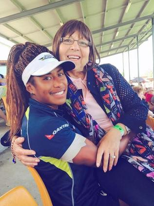 Ellia Green with her adoptive mother Yolanta. Pic supplied.
