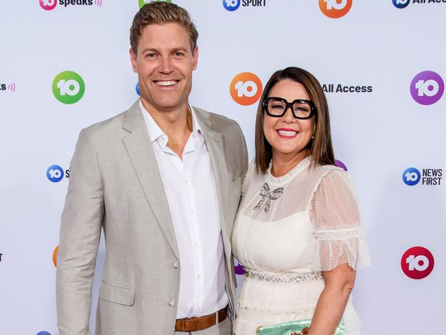 Dr Chris Brown and Julia Morris at Channel 10s 2019 Up Fronts.