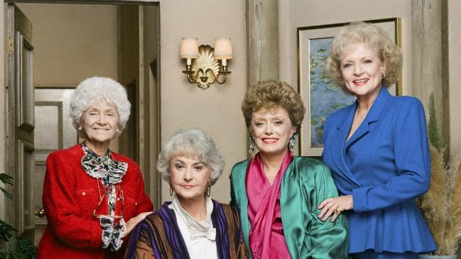 Golden Girls stars (L-R): Estelle Getty as Sophia Petrillo, Bea Arthur as Dorothy Petrillo Zbornak, Rue McClanahan as Blanche Devereaux, Betty White as Rose Nylund. Picture: Paul Drinkwater/NBCU Photo Bank