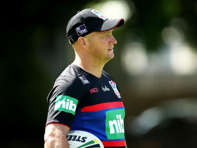 Knights coach Nathan Brown at training.