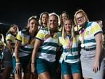 Australian athletes enjoy the atmosphere during the Closing Ceremony for the Gold Coast 2018 Commonwealth Games at Carrara Stadium. (Photo by Michael Dodge/Getty Images)