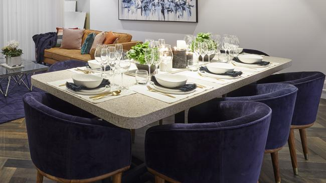 The only compliment they got was for the styling on their dining table. Picture: Channel 9/The Block