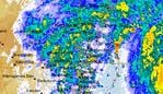 A radar image from the Bureau of Meteorology as Sydney shows a massive downpour across NSW, 14 July 2020. Picture: BOM