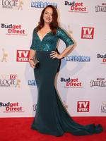 Mandy McElhinney on the red carpet at the 2015 Logie Awards at Crown Casino in Melbourne. Picture: Tim Carrafa
