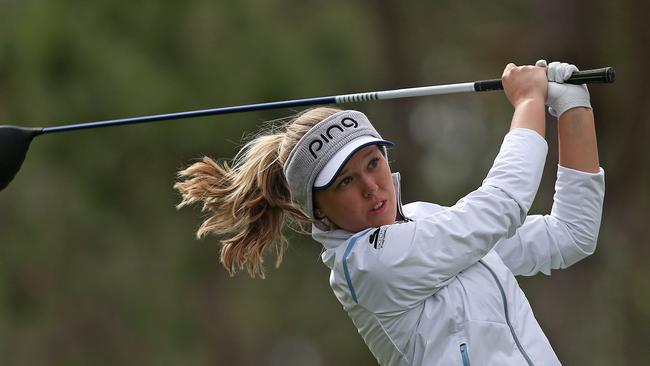 Canadian Brooke Henderson returns to Adelaide as world No.9. Picture: Matt Sullivan/Getty Images/AFP