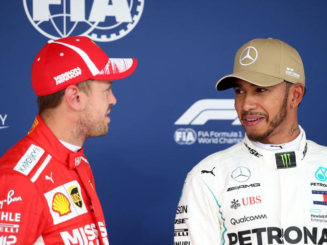 Lewis believes Seb is no longer the top dog at Ferrari.