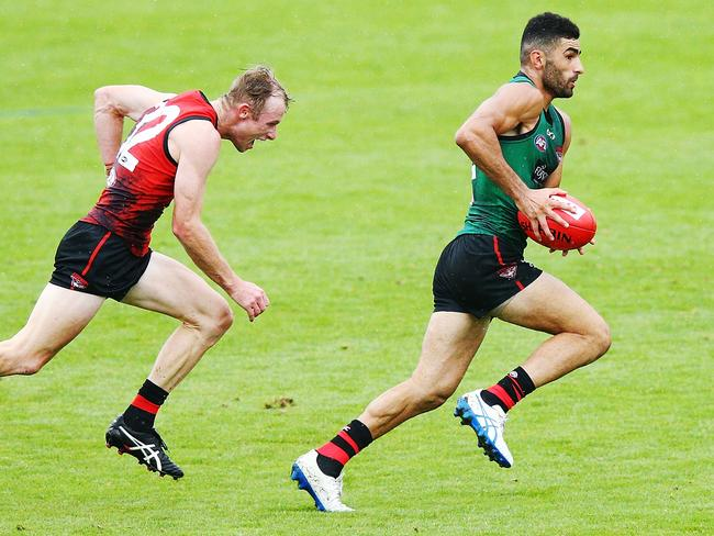 Essendon's Adam Saad will be hard to catch in AFLX.