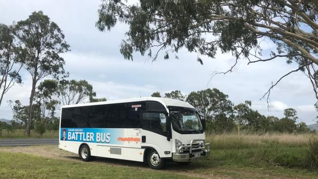 The Battler Bus ground to a halt north of Rockhampton. Picture: Trenton Akers
