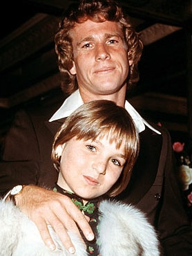 Actor Ryan O'Neal and daughter Tatum. Picture: Supplied