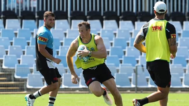 Josh Morris during Cronulla Sharks NRL training.