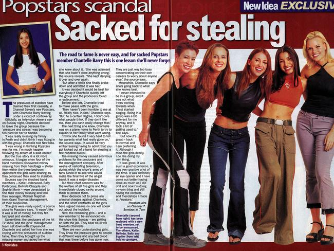 A New Idea story from 2000 alleges Barry was sacked from band for stealing from other band members.