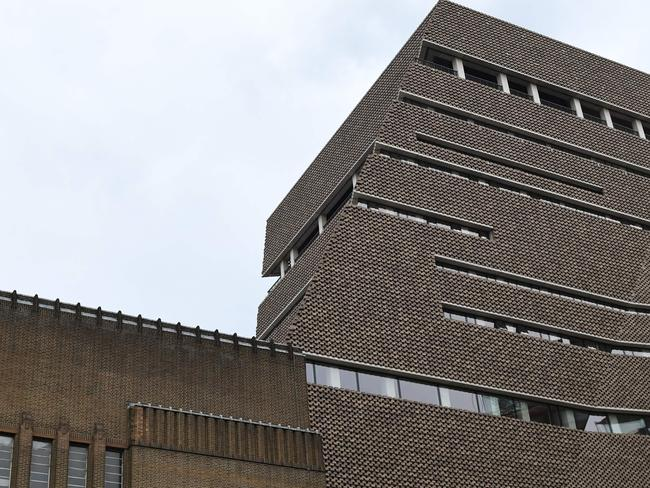The Tate Modern gallery in London was put on lockdown after the incident. Picture: Daniel SORABJI / AFP.