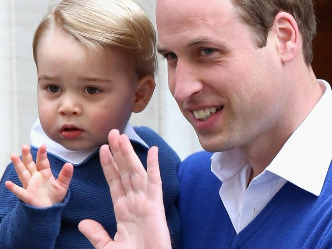 A young Prince George visits the Lindo wing when Princess Charlotte is born. Picture: Chris Jackson/Getty Images.