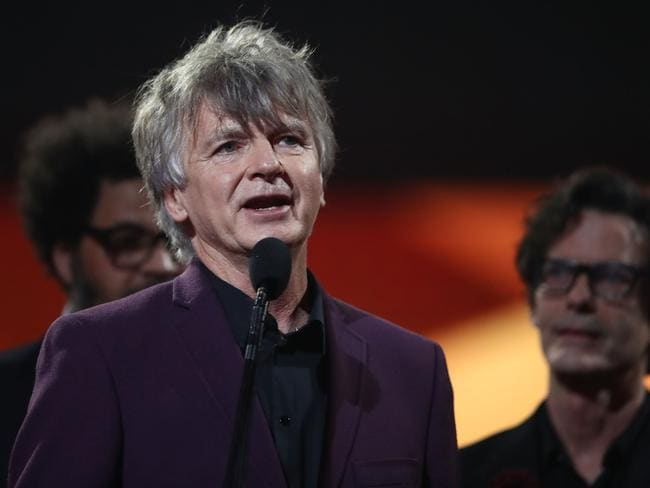 Crowded House accept the ARIA Hallf of Fame Induction during the 30th Annual ARIA Awards. Picture: Getty