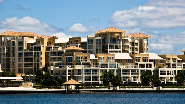 Luxury waterfront apartments on the Gold Coast.