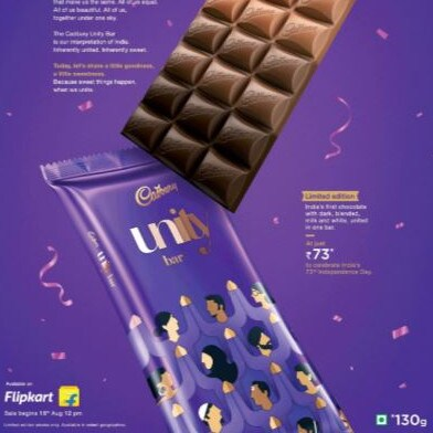 Cadbury's new Unity chocolate bar encouraging 'diversity