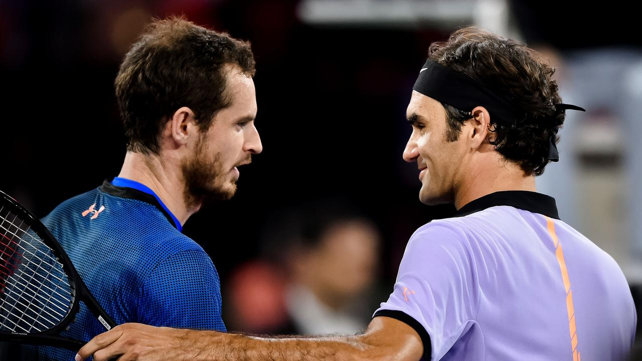 Swiss tennis superstar Roger Federer (R) has reacted to Andy Murray's retirement announcement.