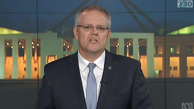 There's 'absolute continuity', Scott Morrison tells 7.30.