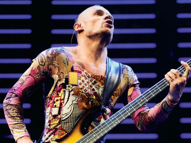 Flea (Michael Balzary), Born in Melbourne Australia October 1962 rockin it out for The Red Hot Chili Peppers.